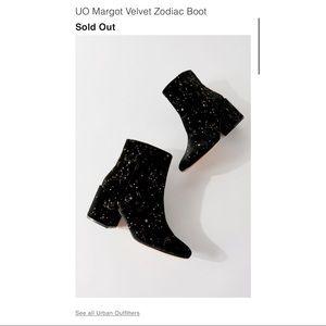 UO Margot Velvet Zodiac Boots
